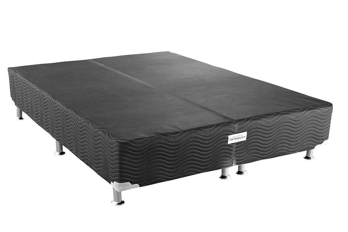Cama Box Base Ortobom Physical Black 20Cama Box King Size - 1,86x1,98x0,20 - Sem Colchão